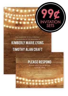99¢ Invitation Sets