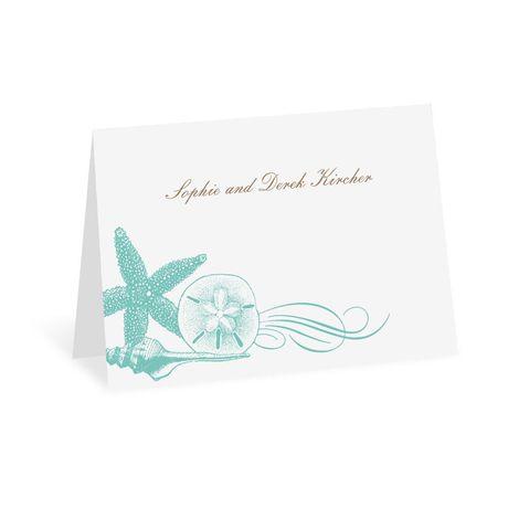 Starfish and Seashells - Lagoon - Thank You Note