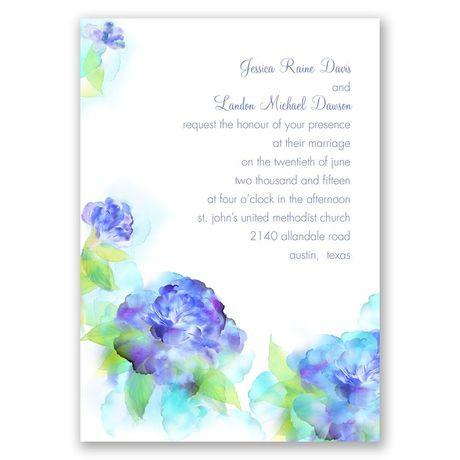 Beauty in Blue  Wedding Invitation
