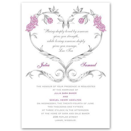 Fairy Tale Roses - Invitation