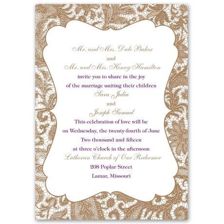 Lace Trim  Invitation
