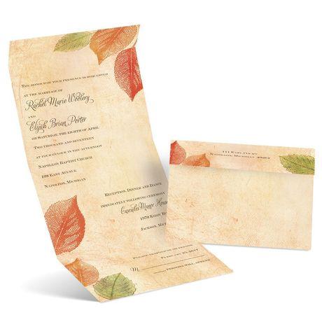 Aspen Leaves  Seal and Send Invitation