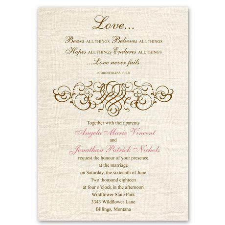 Rustic Love  Invitation