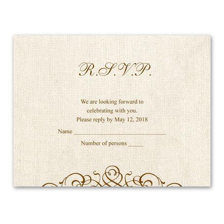 Rustic Love  Response Card and Envelope