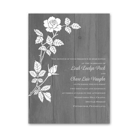 Rustic Rose  Petite Invitation