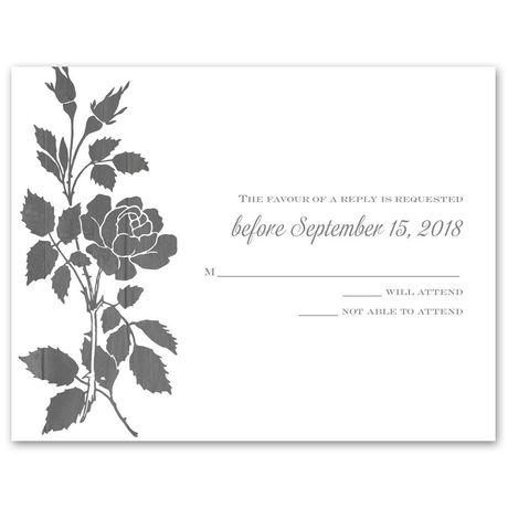 Rustic Rose  Response Card
