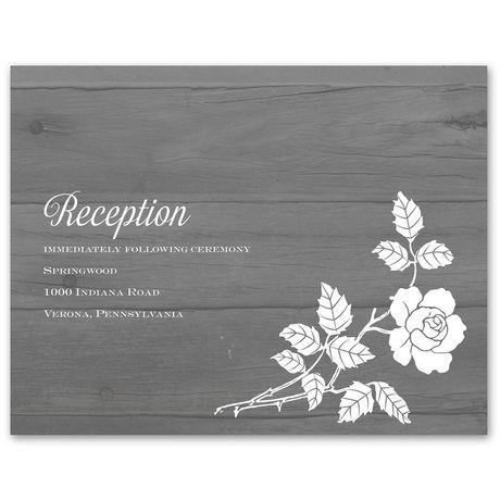 Rustic Rose  Reception Card