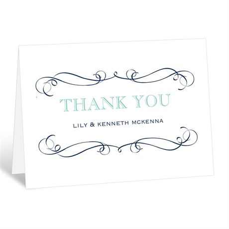 Exhilarating  Thank You Card