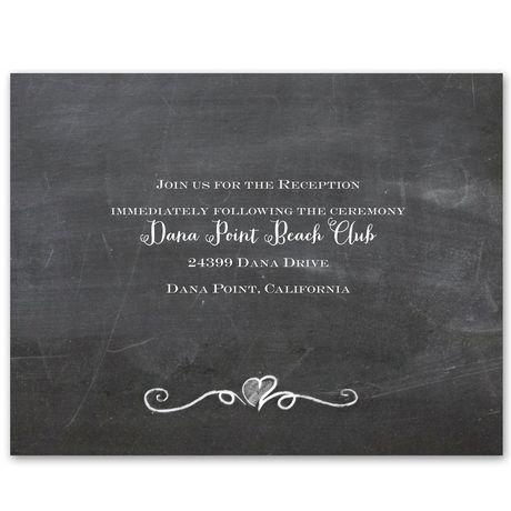 Love Never Fails  Reception Card