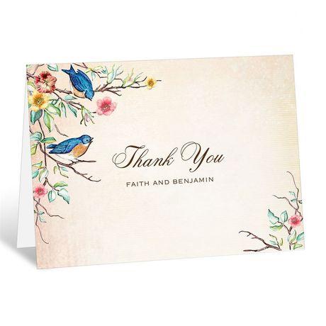 Bluebird Melody - Thank You Card