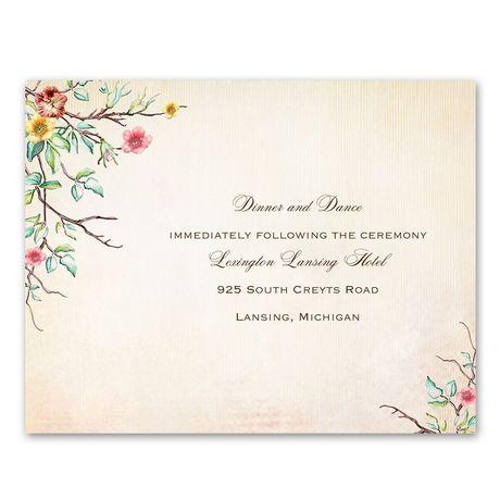 Bluebird Melody  Reception Card