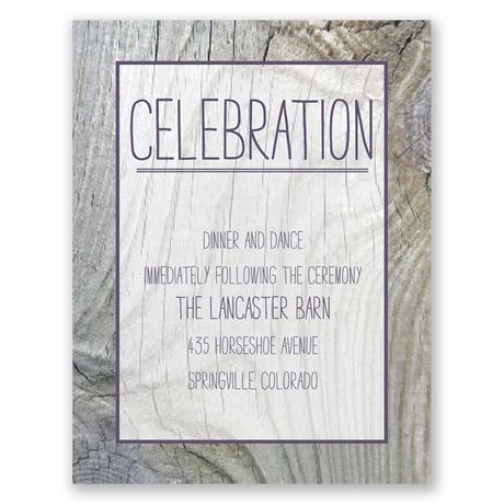Tree Rings  Reception Card