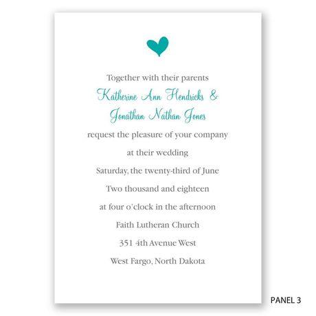 Perched Heart - Photo Invitation