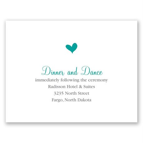 Perched Heart  Reception Card