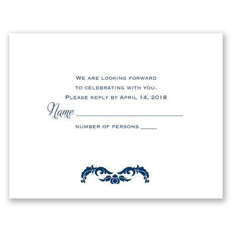 Flourish Crest - Response Card