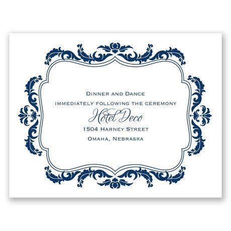 Flourish Crest  Reception Card