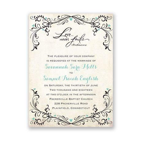 Blossoming Love  Petite Invitation