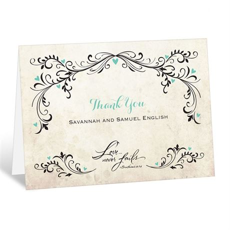 Blossoming Love  Thank You Card