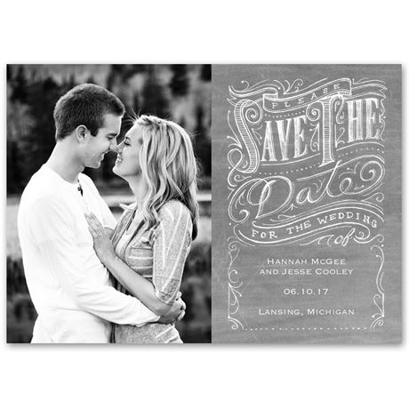 Fancy Flourishes  Save the Date Card
