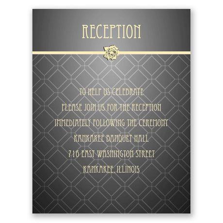 Rose Border  Reception Card