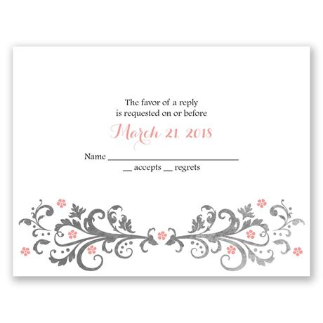 Flowers and Filigree  Response Card