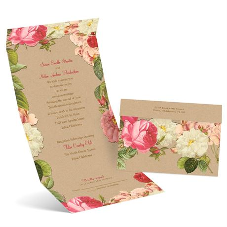 Vintage Blooms - Seal and Send Invitation