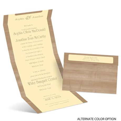 Polished Wood - Seal and Send Invitation