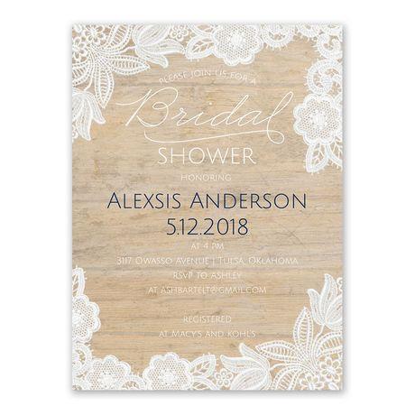 Vintage Country - Bridal Shower Invitation