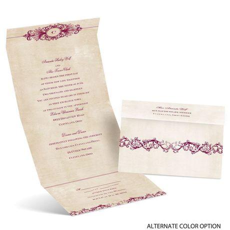 Rustic Elegance - Seal and Send Invitation