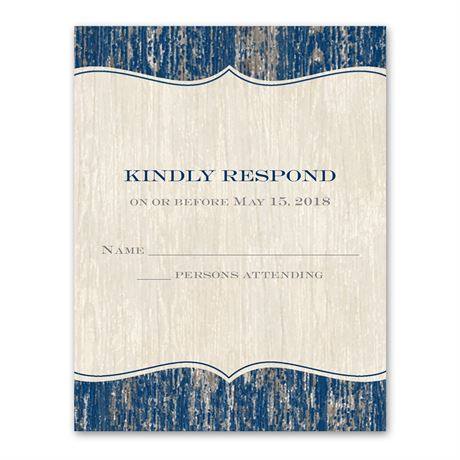 Worn Wood - Response Card