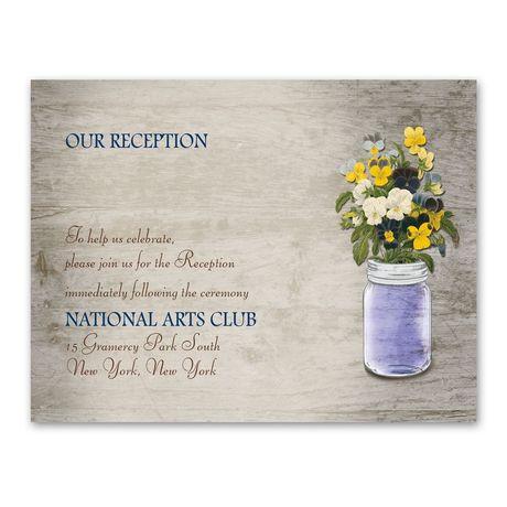Pretty Pansies - Reception Card