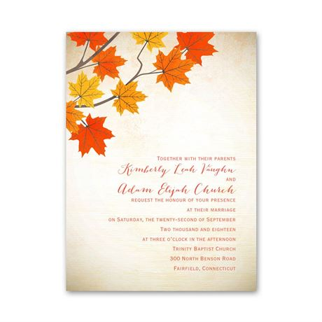Maple Treasures  Petite Invitation