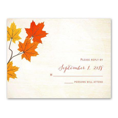 Maple Treasures  Response Card
