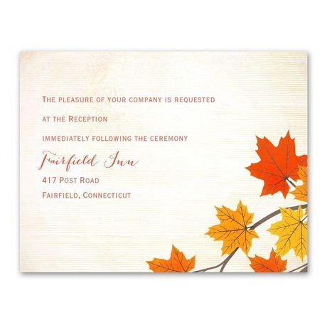 Maple Treasures  Reception Card