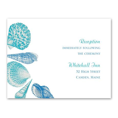 Sea Love - Reception Card