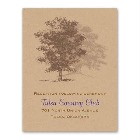 Country Roots  Reception Card