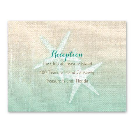 Starfish and Burlap - Reception Card