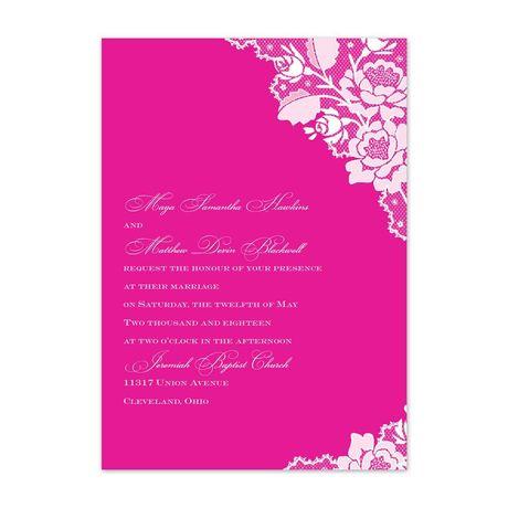 Corner Lace - Invitation