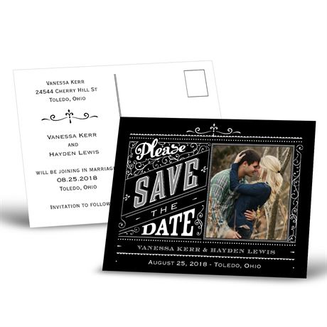 Pretty Please  Save the Date Postcard