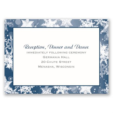 "Winter""s Wonders  Reception Card"