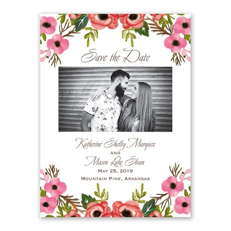 Blooming Beauty - Save the Date Card
