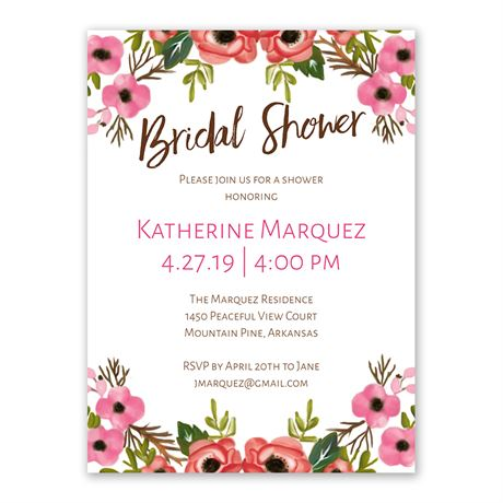 Blooming Beauty - Bridal Shower Invitation