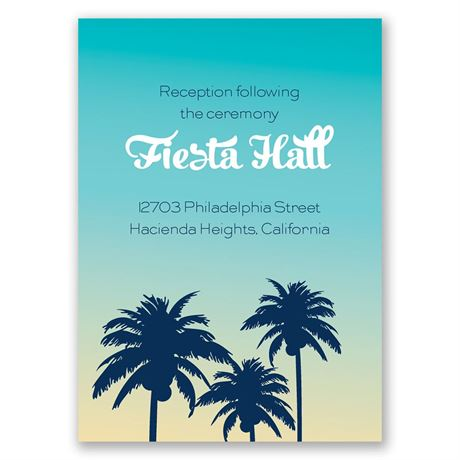 Palm Tree Silhouettes - Reception Card