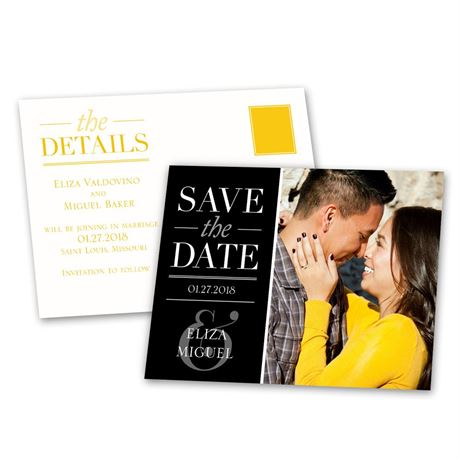 Modern Style  Save the Date Postcard