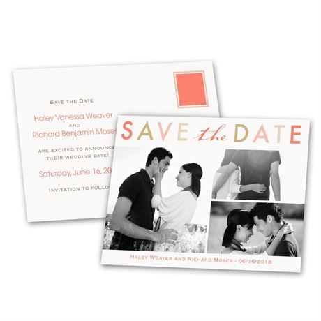Bright and Beautiful - Save the Date Postcard