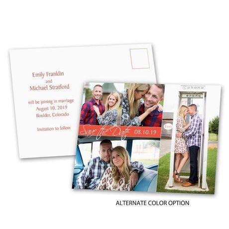Modern Arrangement - Save the Date Postcard