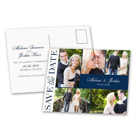 Photo Happy  Save the Date Postcard