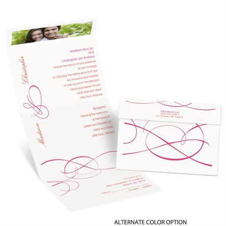 Swirling Beauty - Seal and Send Invitation