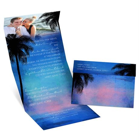 Tropical Paradise  Seal and Send Invitation