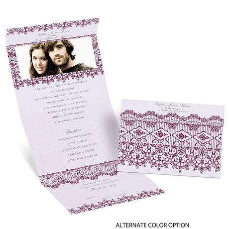 Rustic Lace - Seal and Send Invitation